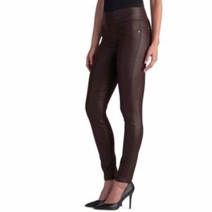 ROCK & REPUBLIC Leggings Brown Vegan Faux Leather